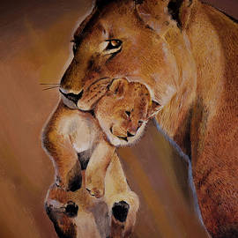 Bill Dunkley - Lioness and Cub