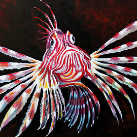 Lion fish Red by Pechez Sepehri