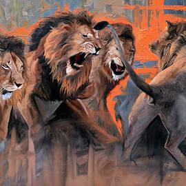 Lions by Atanasov Art