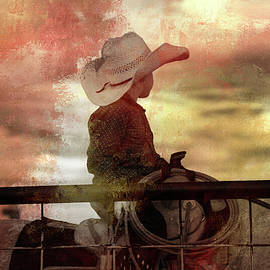 Little Cowboy Ready To Rope by Toni Hopper
