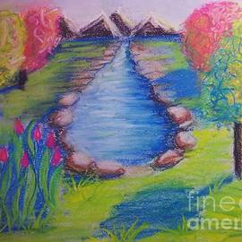 Little Dam Impressionism In Chalk Pastel By Delynn Addams Designs by Delynn Addams
