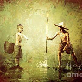Little Fishermen by KaFra Art