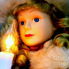 Little Girl Caroler With Candle