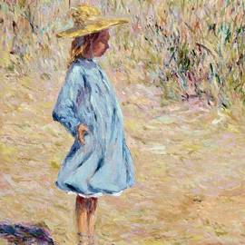 Little Girl with blue dress by Pierre Dijk