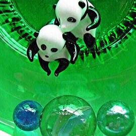 Little Glass Pandas 37 by Sarah Loft