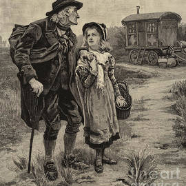 Little Nell and her Grandfather  - Frederick Morgan