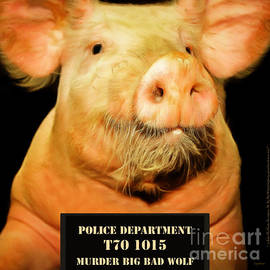 Wingsdomain Art and Photography - Little Pig Number Two Mugshot 20170921 square