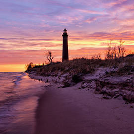 Little Point Sable Lighthouse on a Colorful Morning by Kevin Kludy