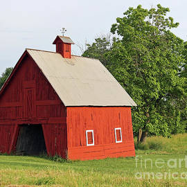 Little Red Barn Big Springs, Indiana by Steve Gass