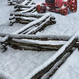 Debra and Dave Vanderlaan - Little Red Snowy Tractor