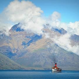Little Red Steamer on Lake Wakatipu by Toni Abdnour
