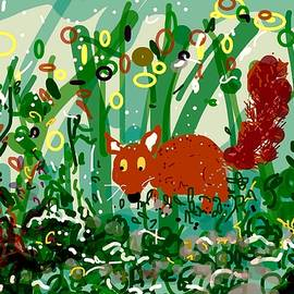 Little Round Red Tailed Fox In The Dark by Alida M Haslett