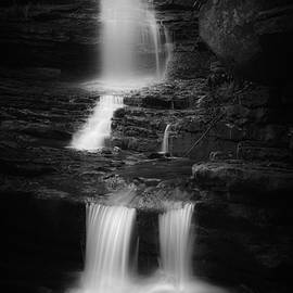 Little Sheldons Falls Black And White by Bill Wakeley