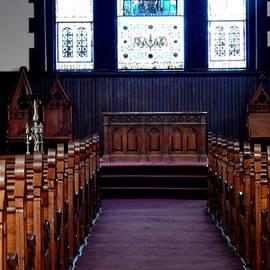 HOMETOWN Series - Inside the Little Stone Church by Arlane Crump