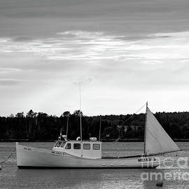 Lobster Boat, Cundys Harbor #64721-bw by John Bald