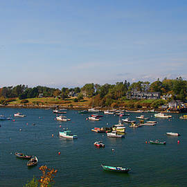 Lobster Boats On The Coast Of Maine by Tim Kathka