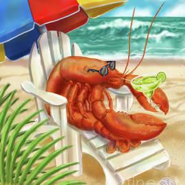 Lobster Drinking A Margarita by Shari Warren