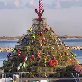 Janice Drew - Lobster Pots Tree 2016