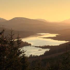 Maria Gaellman - Loch Garry at Sunset