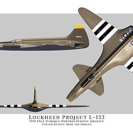 Lockheed L-133 Three View by John Matthews