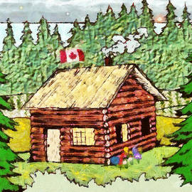 Mario Carini - Log Cabin in the Canadian Woods