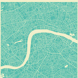 LONDON STREET MAP - Jazzberry Blue