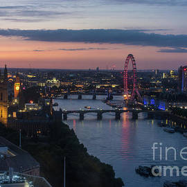 London Thames Almost Night - Mike Reid