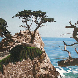 Lone Cypress by Joe Roselle