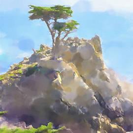 Lone Cypress Painting by Lutz Baar