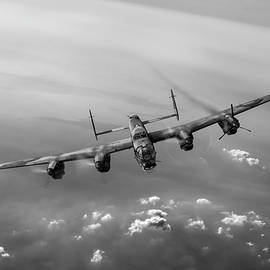 Gary Eason - Lone Lancaster black and white version