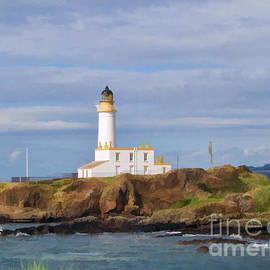 Lone Lighthouse In Scotland by Roberta Byram