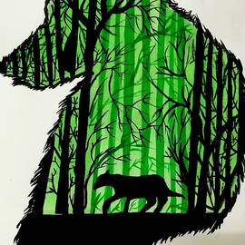 Mitali Tripathi - Lone wolf art