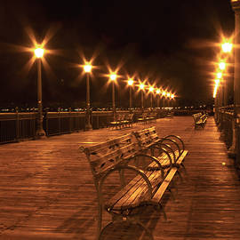 Bonnie Follett - Lonely Benches on the Pier