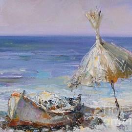 Angelina Nedin - Lonely Boat and Umbrella