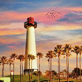 Long Beach Harbor Lighthouse by Lynn Bauer