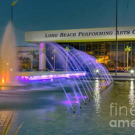 Long Beach Performing Arts Center Fountain by David Zanzinger