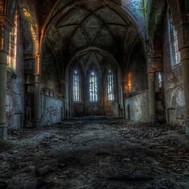 Long dark church by Nathan Wright