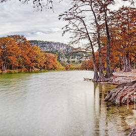 Silvio Ligutti - Long Exposure Panorama of the Frio River and Old Baldy at Garner State Park - Texas Hill Country