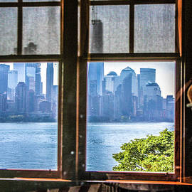 William Rogers - Looking out the Window from Ellis Island