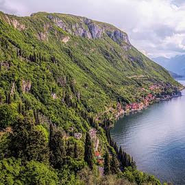 Joan Carroll - Looking South on Lake Como From Varenna Italy