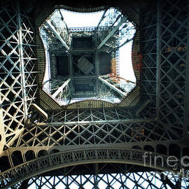 Looking up from the center under the Eiffel Tower, Paris 1978 by California Views Archives Mr Pat Hathaway Archives