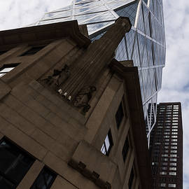 Looking Up - the Famous Hearst Tower in Midtown Manhattan New York City U S A by Georgia Mizuleva