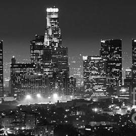 Los Angeles At Night Panorama 3 by Bob Christopher