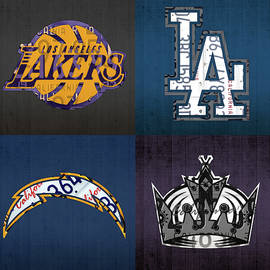 Design Turnpike - Los Angeles License Plate Art Sports Design Lakers Dodgers Chargers Kings