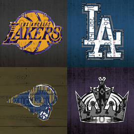 Design Turnpike - Los Angeles License Plate Art Sports Design Lakers Dodgers Rams Kings