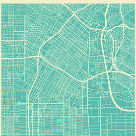 LOS ANGELES STREET MAP - Jazzberry Blue