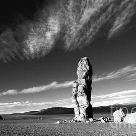Los Monjes de la Pacana in Monochrome Atacama Desert Chile by James Brunker
