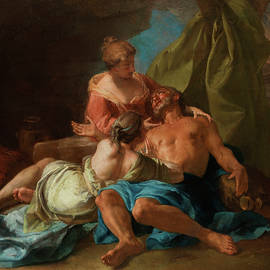 Lot with his daughters - Jean Francois de Troy
