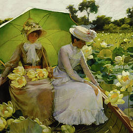 Lotus Lillies by Michael Durst after Curran