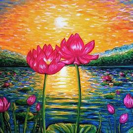 Lotus Pond In Bloom by Jessica T Hamilton